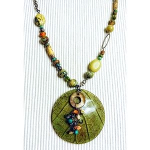 RARE Silpada Kabkanan Leaf Necklace